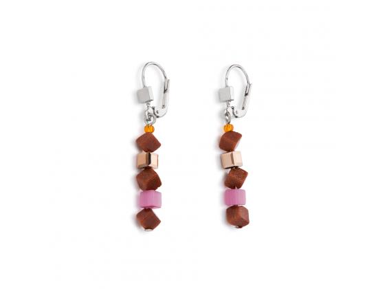 Mini Orange/Pink Earrings