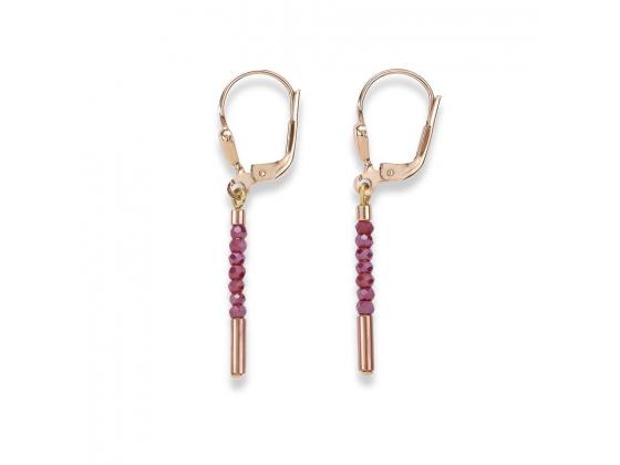 Mini Red Beads Earrings