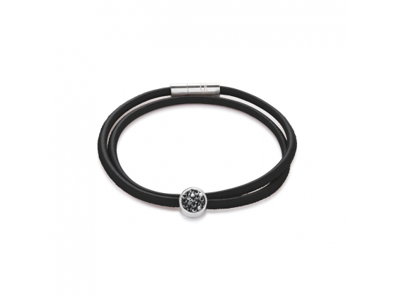 Small Leather Glitter Bracelet