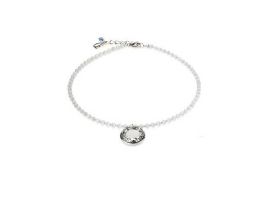 Grey Acrylic Bead Disc Bracelet
