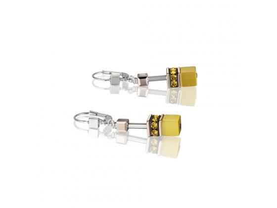 GEOCUBE Yellow Earrings