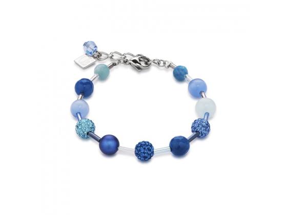 Blue Glitter Bracelet