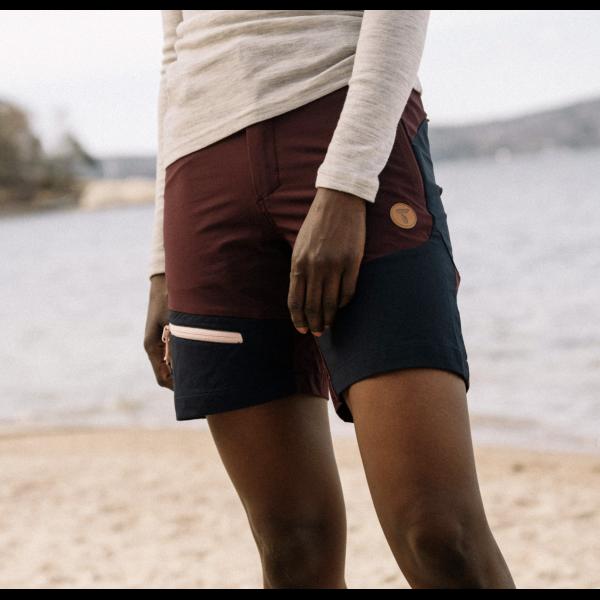 Womens softshell shorts - Burgundy