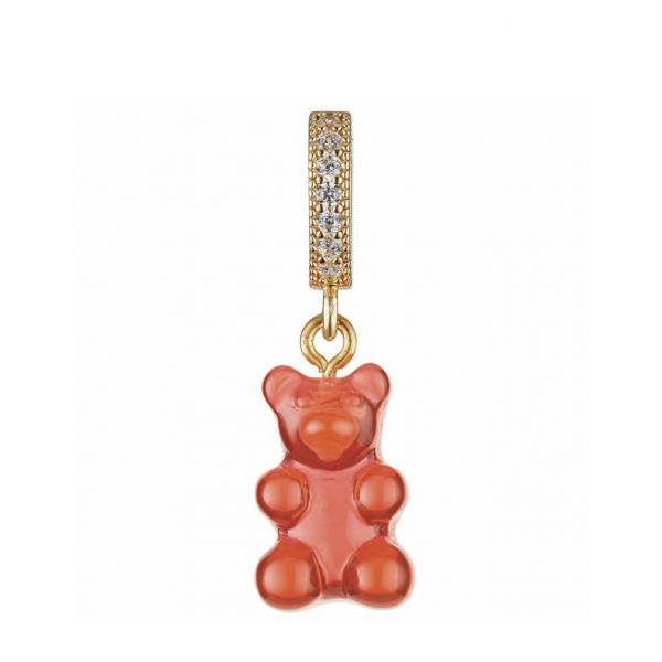 NOSTALGIA BEAR-PAVE CONNECTOR - JELLY RED