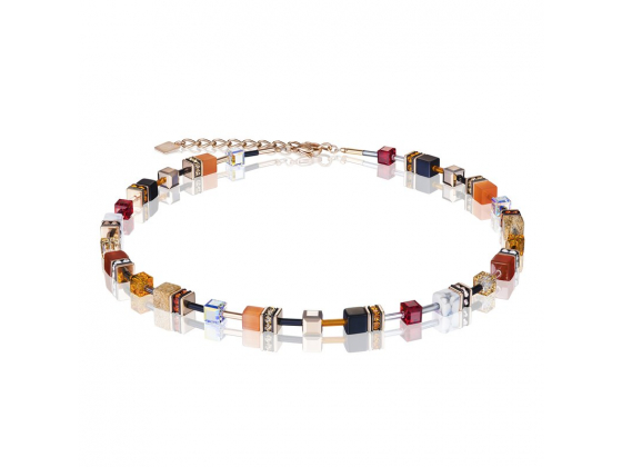 GEOCUBE Red/Orange Necklace