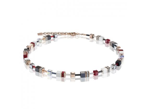 GEOCUBE Red/White Necklace