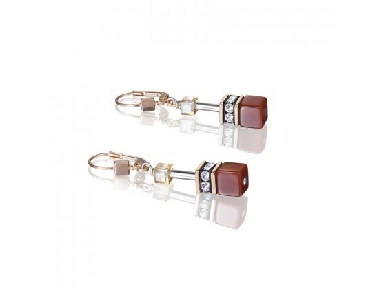 GEOCUBE Red/Orange Earrings