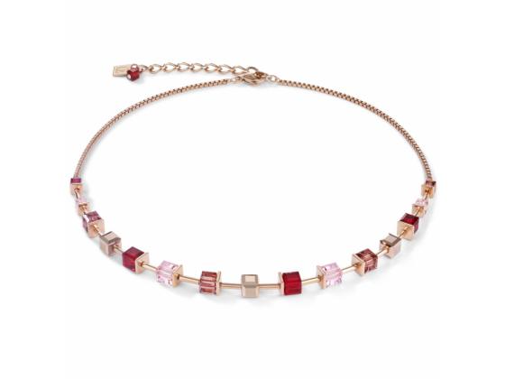 GEOCUBE Rose Gold/Pink Necklace