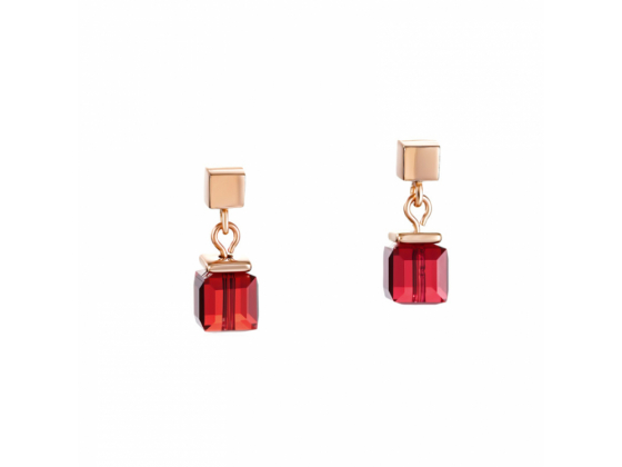 GEOCUBE Rose Gold/Pink Earrings