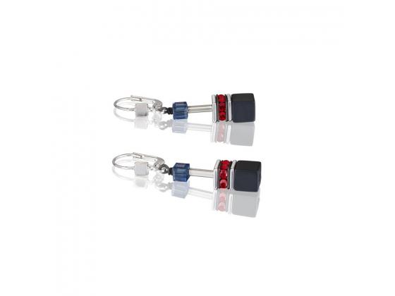 GEOCUBE Multicolor Red/Blue/Green Earrings