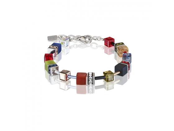 GEOCUBE Multicolor Red/Blue/Green Bracelet