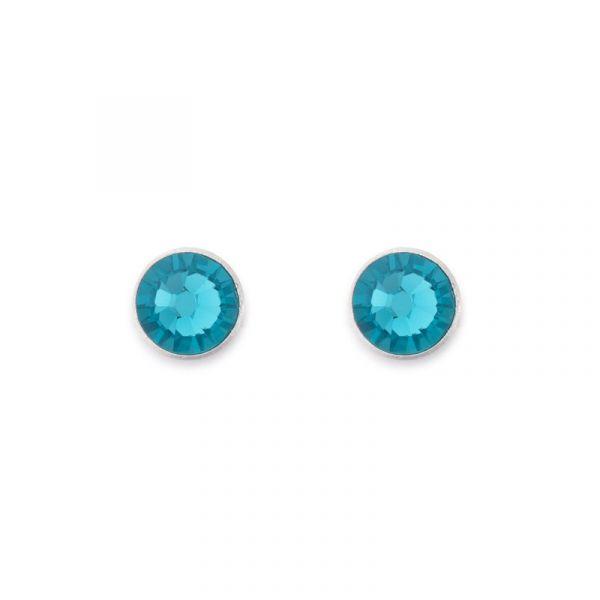 Blue Swarowski Stud-Earrings