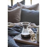 Kaffekanne glass m/sil