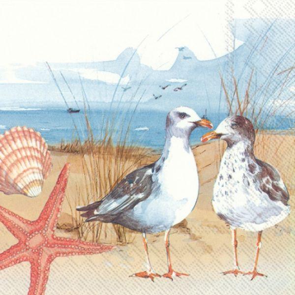 """""""Seagulls at the Beach"""" lunsjserviett"""