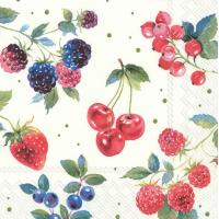 """""""Red Summer Fruits"""" lunsjserviett"""