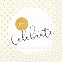 """Let´s celebrate"" cocktailserviett"