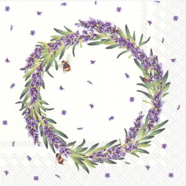 """Lavender Wreath"" kaffeserviett"
