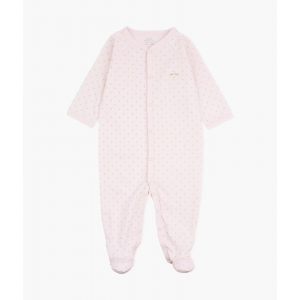 LIVLY - SATURDAY SIMPLICITY FOOTIE PINK/GOLD DOTS