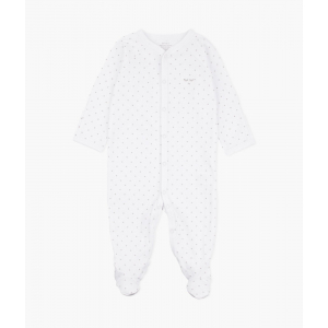 LIVLY - SATURDAY SIMPLICITY FOOTIE WHITE/SILVER DOTS