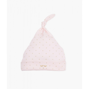 LIVLY - SATURDAY TOSSIE HAT PINK/GOLD DOTS