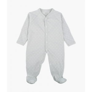 LIVLY - SATURDAY SIMPLICITY FOOTIE GREY/WHITE DOTS