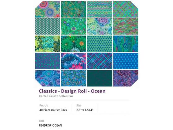 Kaffe Fassett design roll Ocean
