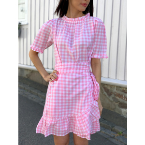 Poppy Dress Pink Gingham