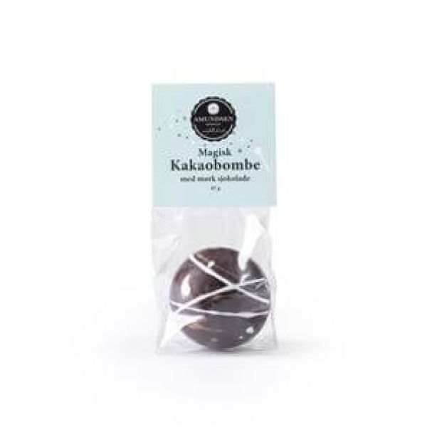Kakaobombe Mørk sjokolade m/ minimarshmallows