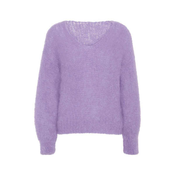 Milana Purple Mohair v-neck