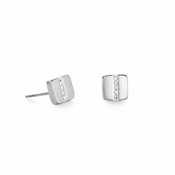 Square Zirconia Stud-Earrings