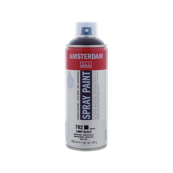 Amsterdam Spray 400ml – 702 Lamp black
