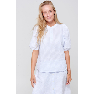 Wakka bluse blå/hvit