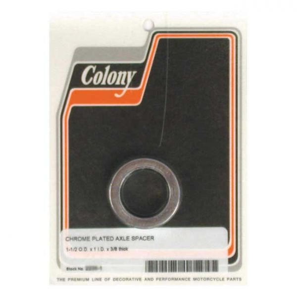 COLONY UNIV. AXLE SPACERS 3/8 INCH LONG