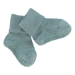 GOBABYGO - NON-SLIP SOCKS BAMBOO DUSTY BLUE