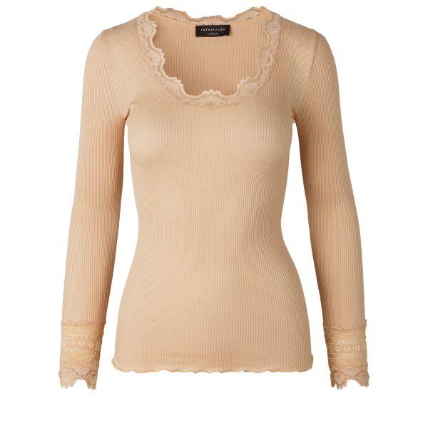 Benita-Silk t-shirt Pure Sand