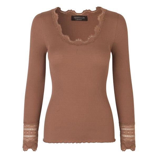 Benita-Silk t-shirt Acorn