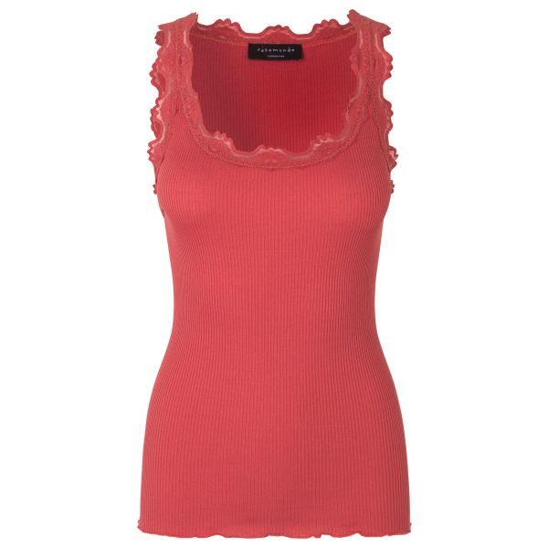 Babette-Silk top mineral red