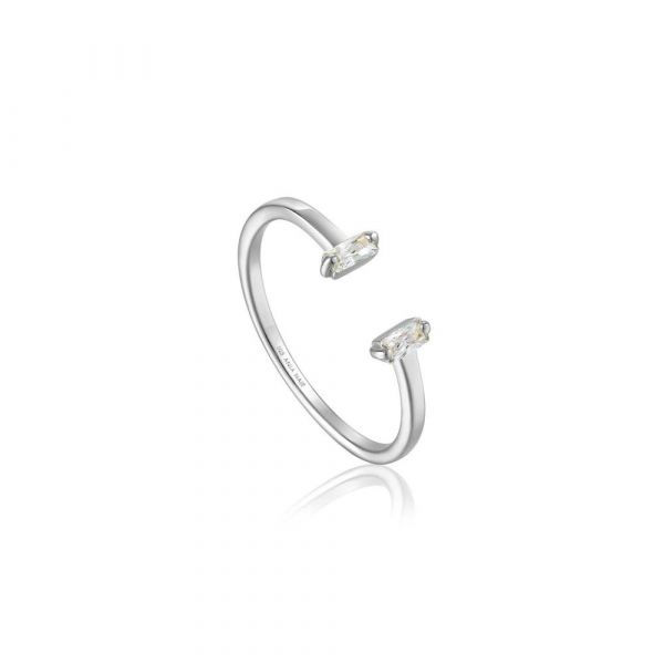 Silver Glow Adjustable Ring
