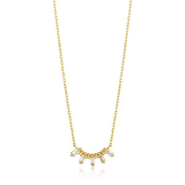 Gold Glow Solid Bar Necklace