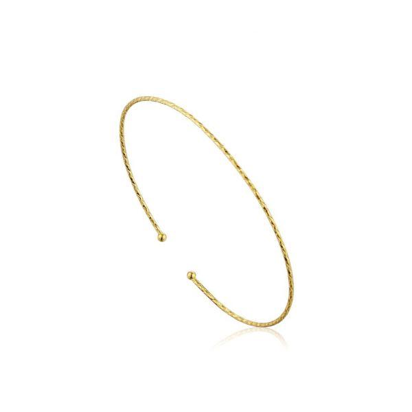 Gold Texture Thin Cuff