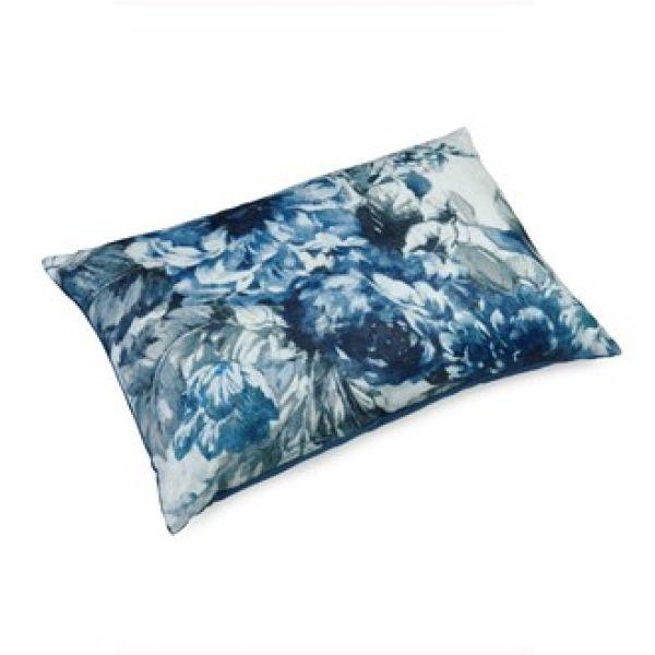 Pute 40x60 Lin Flower Blue inkl. innmat dun fjær