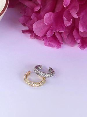 Ørecuff  - Sølv/gull med steiner