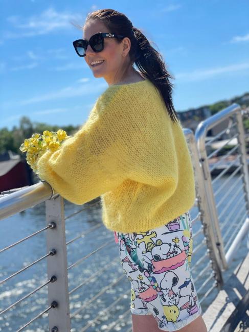 Milana Yellow Mohair v-neck