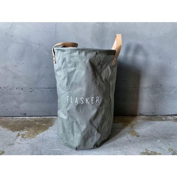 Resirkulering flasker m/hank grønn/sand/grå