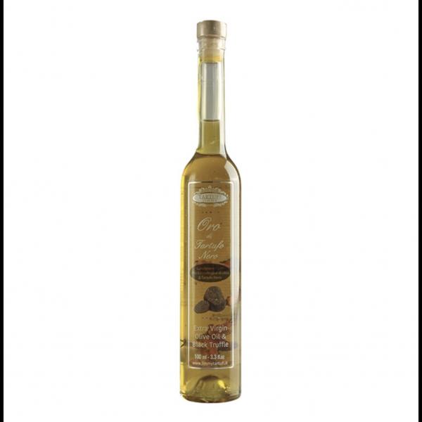 Ekstra virgin olivenolje med trøffel og trøffelslices
