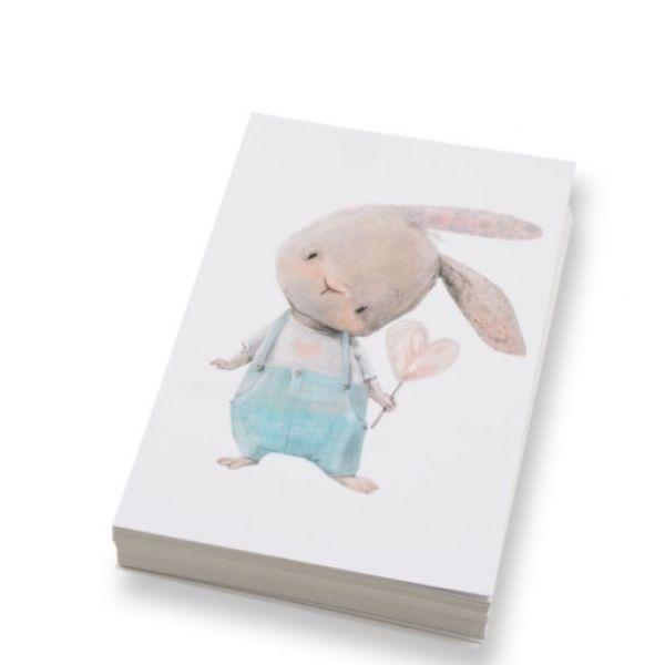 """""""Kanin med hjerte"""" kort 10x15cm"""