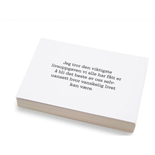 """""""Jeg tror den viktigste...."""" kort 10x15cm"""