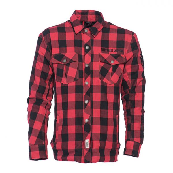 WCC DOMINATOR RIDING FLANNEL SHIRT RED/BLACK CE APPR.