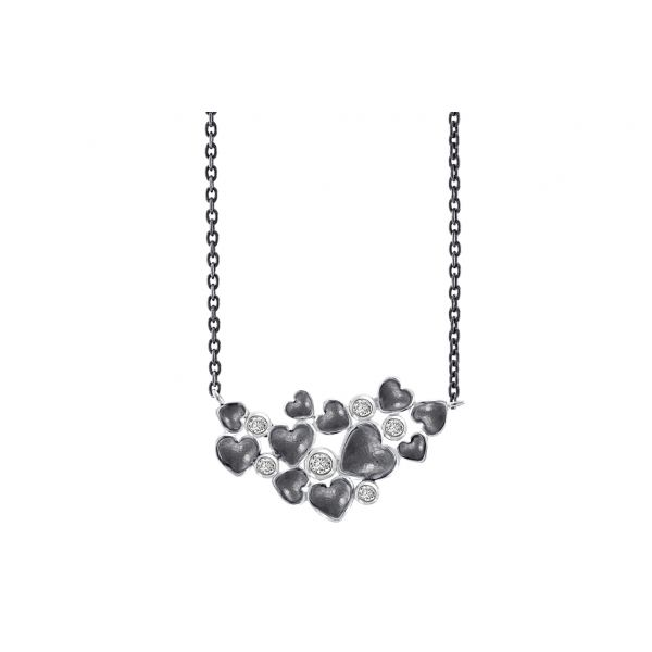 Silver Random Hearts  Halskjede