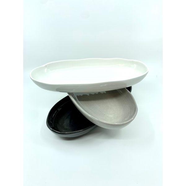Capri fat oval  lite 12x24 cm. Finnes i hvitt ,grått, og sort
